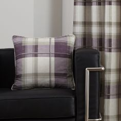 Balmoral Check Cushion Cover - Plum Purple