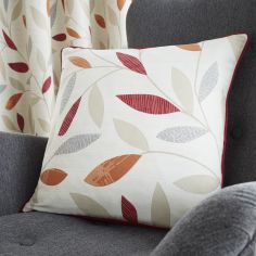 Beechwood Leaf Cushion Cover - Red