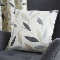 Beechwood Leaf Cushion Cover - Charcoal Grey