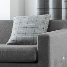 Braemar Check Cushion Cover - Charcoal Grey