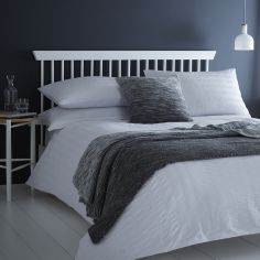 Seersucker Woven Duvet Cover Set - White