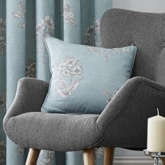 Flora Cushion Cover - Duck Egg Blue
