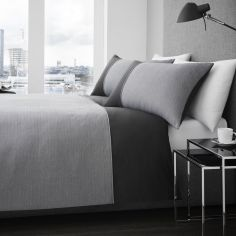 Harrison 100% Cotton Duvet Cover Set - Charcoal Grey