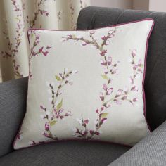 Hemsworth Floral Cushion Cover - Raspberry Pink