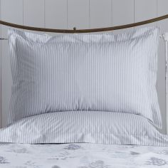 Pair of Linden Striped Oxford Pillowcases - Grey