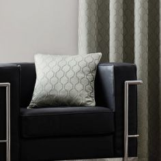 Islington Geometric Cushion Cover - Silver Grey