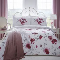 Celestine Floral Reversible Duvet Cover Set - Blush Pink