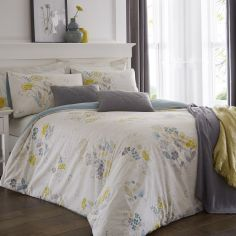 Olanda Floral Duvet Cover Set - Lime Green