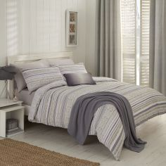 Hadlow Stripe Reversible Duvet Cover Set - Natural