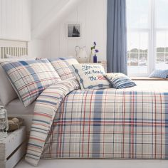 Rathmoore Check Reversible Duvet Cover Set - Blue