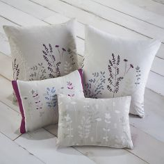 Haze Floral Unfilled Boudoir Cushion - Blue & Purple