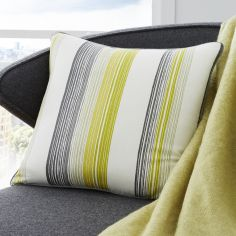 Rydell Stripe Cushion Cover - Lime Green
