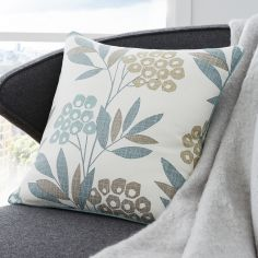 Karsten Floral Print Cushion Cover - Teal Blue