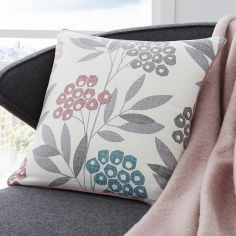 Karsten Floral Print Cushion Cover - Blush Pink