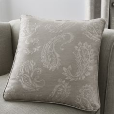 Luxury Ashford Jacquard Cushion Cover - Silver Grey