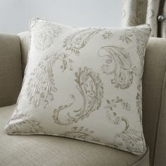Luxury Ashford Jacquard Cushion Cover - Natural