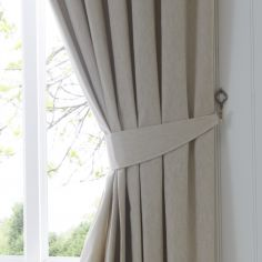 Dijon Tie Backs - Natural Cream
