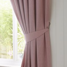Dijon Tie Backs - Blush Pink