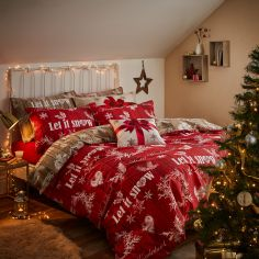 Catherine Lansfield Christmas Garland Reversible Duvet Cover Set