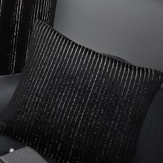 Velvet Sparkle Cushion Cover - Black