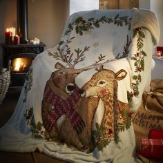 Mr & Mrs Stag Supersoft Blanket Fleece Throw