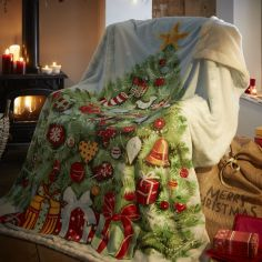 Christmas Tree Supersoft Blanket Fleece Throw