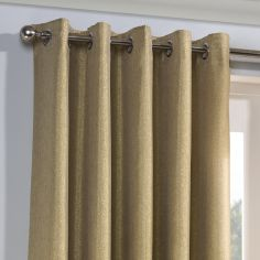 Glitter Glamour Fully Lined Ring Top Curtains - Gold