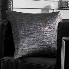 Glitter Glamour Cushion Cover - Black
