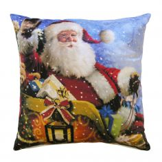 Santa Sleigh Father Christmas Cushion Cover