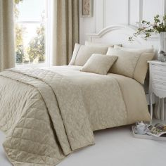 Ebony Floral Cotton Rich Duvet Cover Set - Natural