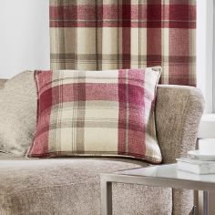 Belvedere Check Cushion Cover - Red