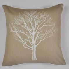 Woodland Trees Cushion Cover - Natural