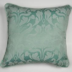 Cotton Rich Jacquard Cushion Cover - Duck Egg Blue
