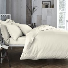 Bianca 100% Cotton Soft 200 TC Duvet Cover - Cream