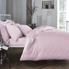 Bianca 100% Cotton Soft 200 TC Duvet Cover - Blush Pink