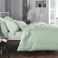 Bianca 100% Cotton Soft 200 TC Duvet Cover - Green