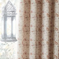 Catherine Lansfield Parading Elephant Design Fully Lined Eyelet Curtains - Multi