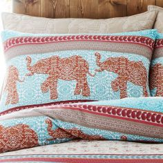 Parading Elephant Pair of Pillowshams