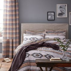 Catherine Lansfield Geometric Aztec Duvet Cover Set - Multi