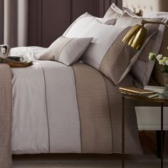 Catherine Lansfield Ombre Ribbed Bands Duvet Cover Set - Natural