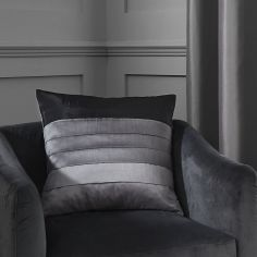 Chicago Faux Silk Cushion Cover - Grey