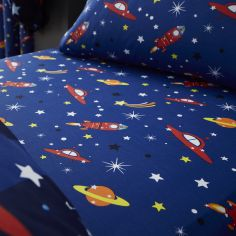 Catherine Lansfield Colourful Outer Space Kids Fitted Sheet