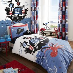 Catherine Lansfield Pirate Ship Kids Duvet Cover Set