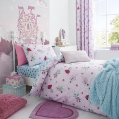 Catherine Lansfield Fairies Reversible Kids Duvet Cover Set