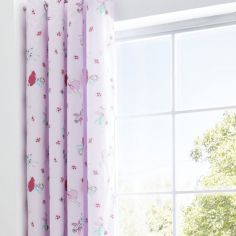Catherine Lansfield Fairies Pink Fully Lined Eyelet Curtains