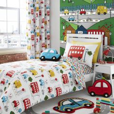 Transport Colourful Reversible Kids Duvet Cover Set
