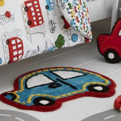Catherine Lansfield Car Transport Shaped Rug for Kids - Multi