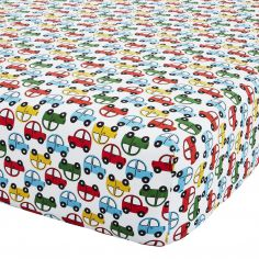 Catherine Lansfield Transport Colourful Polycotton Fitted Sheet
