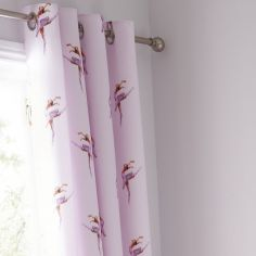 Catherine Lansfield Ballerina Pink Fully Lined Eyelet Curtains