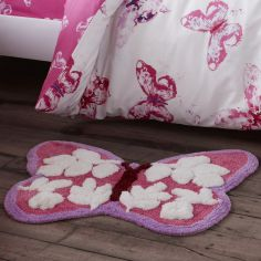 Catherine Lansfield Butterfly Shaped Rug for Kids